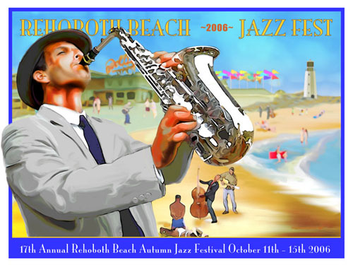 jazz-sax on beach